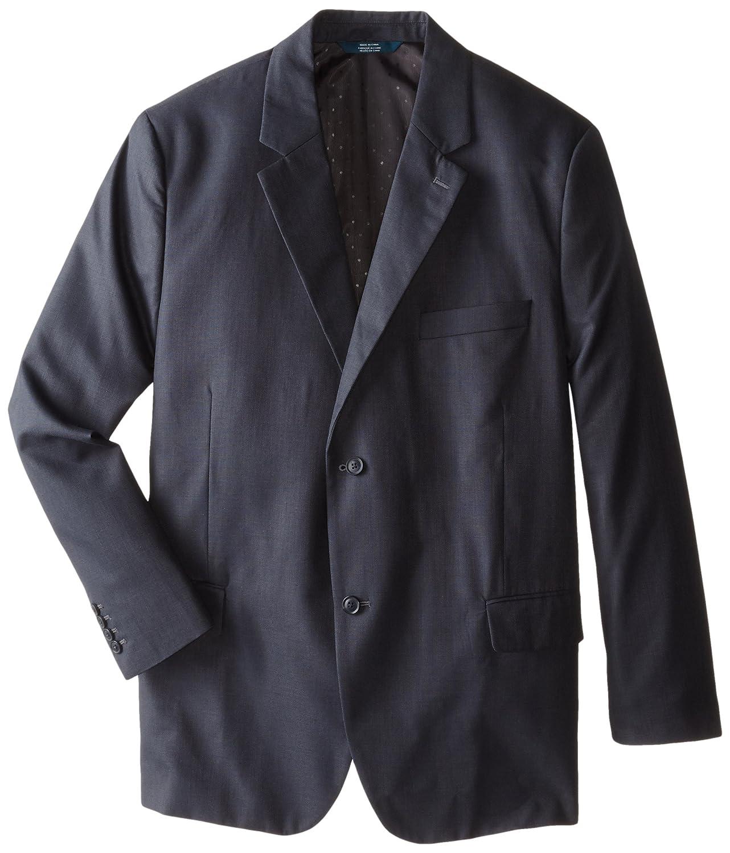 Perry Ellis Men's Big-Tall Big and Tall Textured Fabric Suit Jacket Navy 48 Regular 4AFJ4602