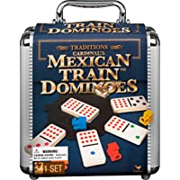 Cardinal Industries 6030756 Mexican Train Domino Game with Aluminum Case