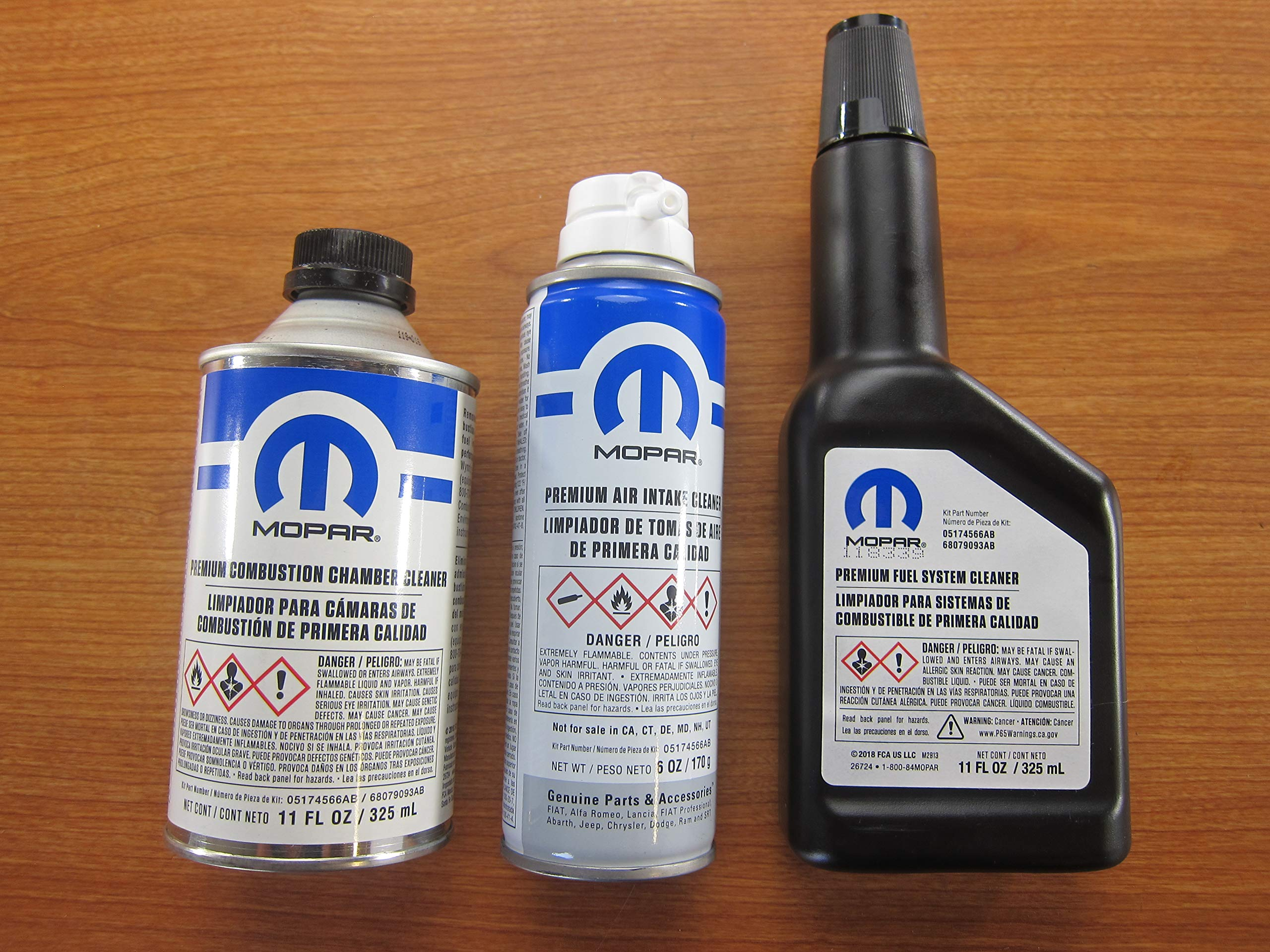 Mopar Fuel Cleaner Kit with Combustion Chamber Fuel System & Air Intake Cleaner