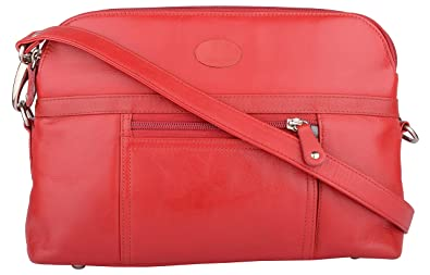 b372ce6a667ed7 Supreme Leather Women's Sling Bag (Red,Small, SP33_Small): Amazon.in ...