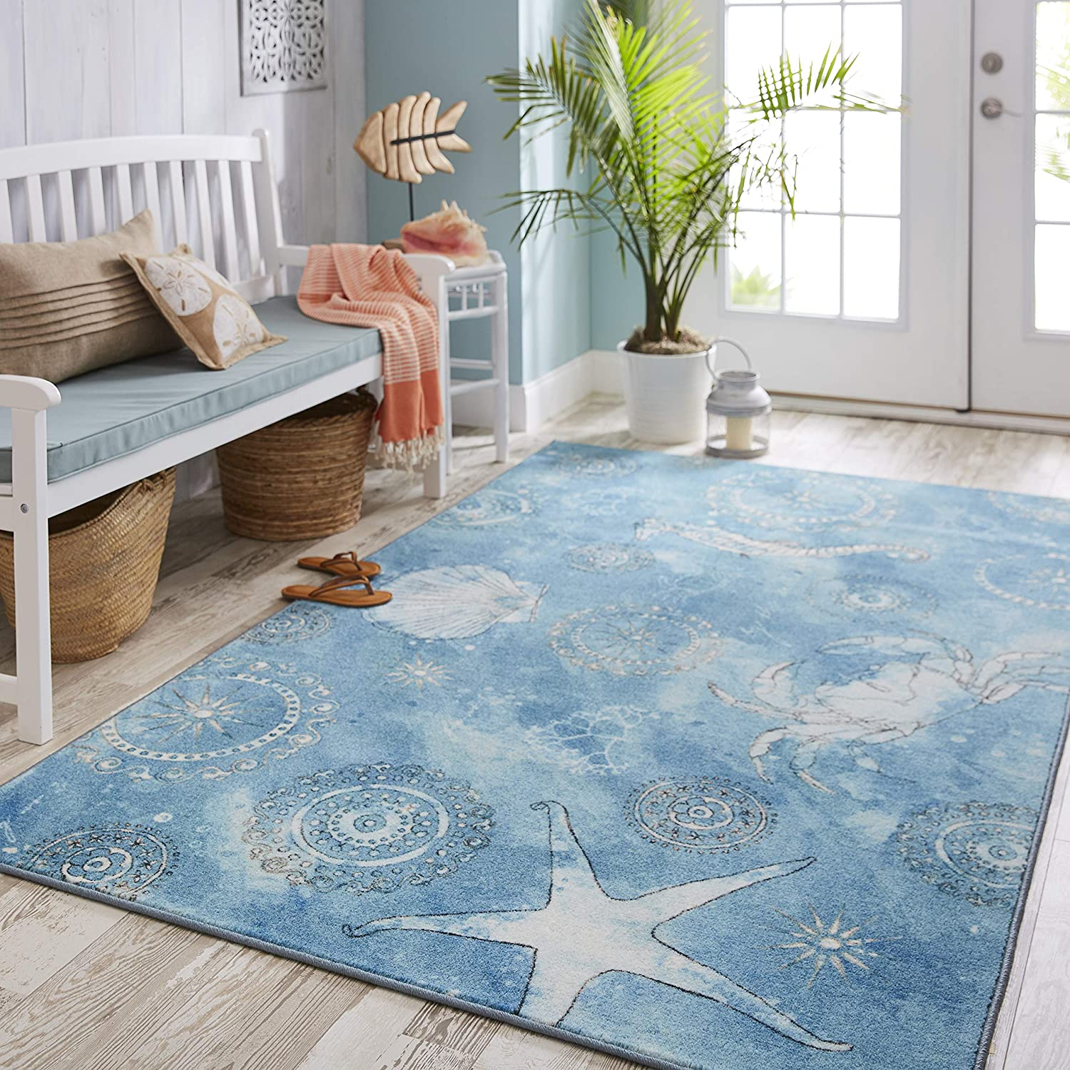 Mohawk Z0307 A446 060096 EC Area Rug, 5'x8', Coastal Splash