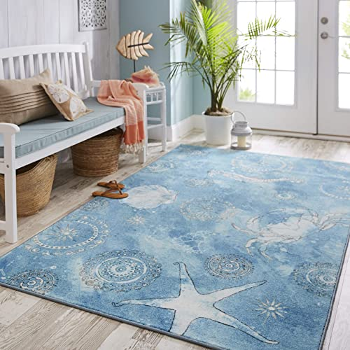 Mohawk Area Rug, 5 x8 , Coastal Splash