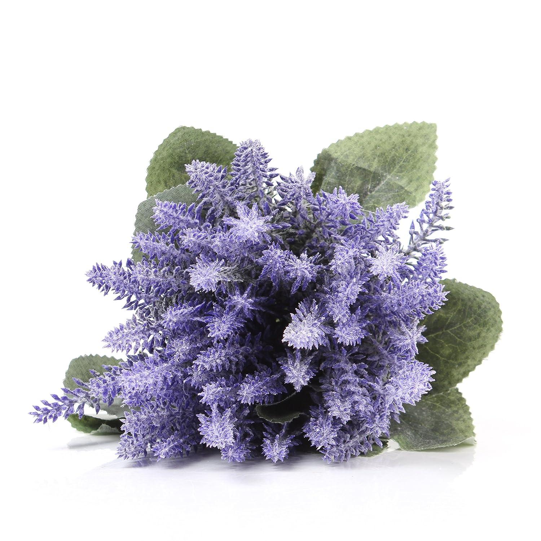 Easin人工ラベンダー花to make a Bountiful Flower Arrangementほぼ自然フェイク植物を明るくホームパーティーと結婚式の装飾に B07D27KZHC