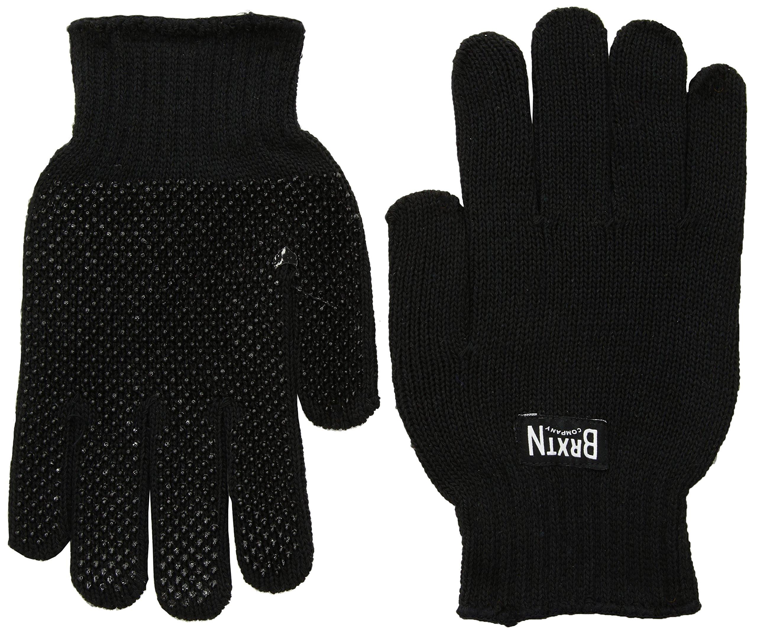 Brixton Men's Langley Rubber Grip Gloves, Black, One Size