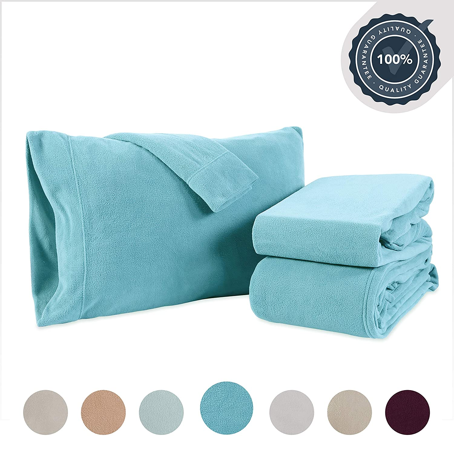 Berkshire Blanket Microfleece Extra Soft Cozy Sheet Set