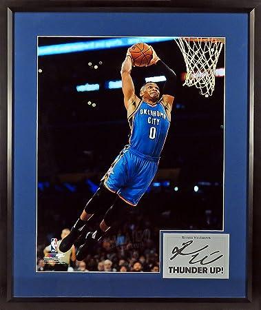 6f094566e4b4 OKC Thunder Russell Westbrook quot THUNDER UP! quot  16x20 Photograph (SGA  Signature Engraved