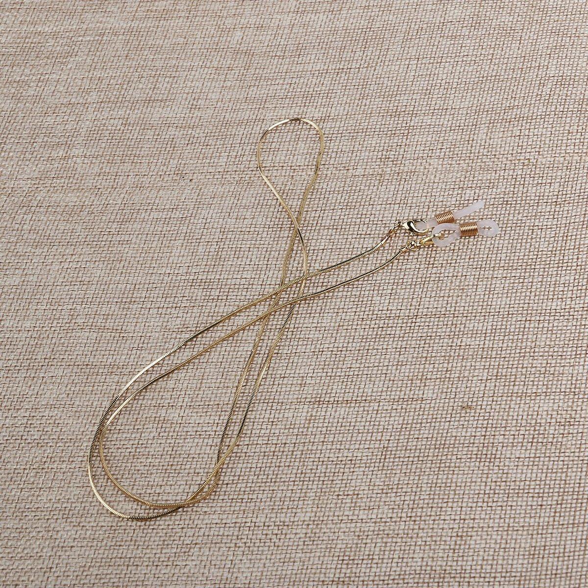 Leorx monocolo Neck strap 70/cm lungo antiscivolo rame occhiali da sole catena Cord Holder oro