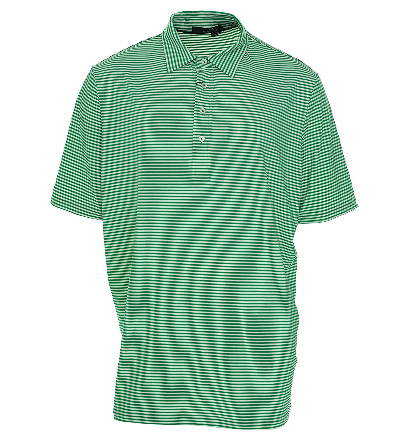 Rlx Golf Active Fit Striped Pique Polo Shirt Xx Large Green At