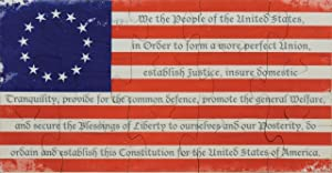 Preamble Flag Shaped Puzzle - Made in USA