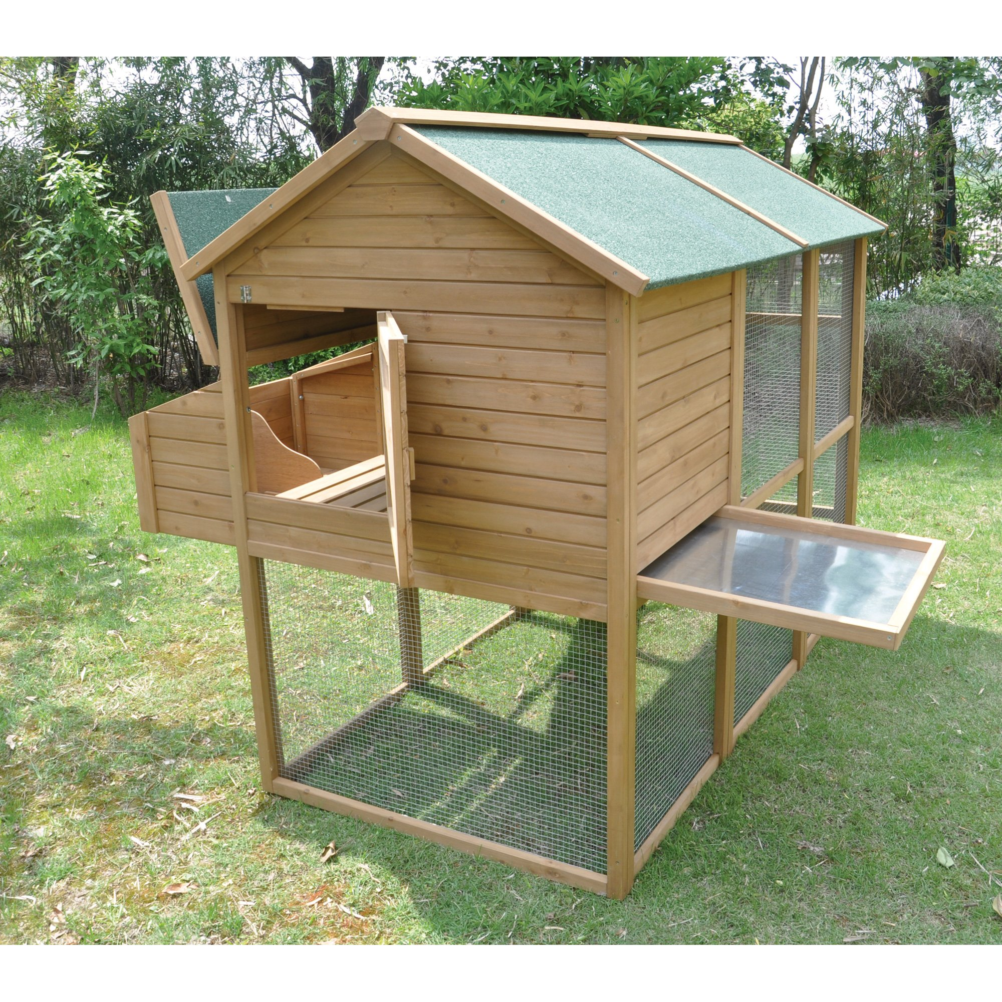 Tall Wooden Chicken Coop - 6 to 8 Hens