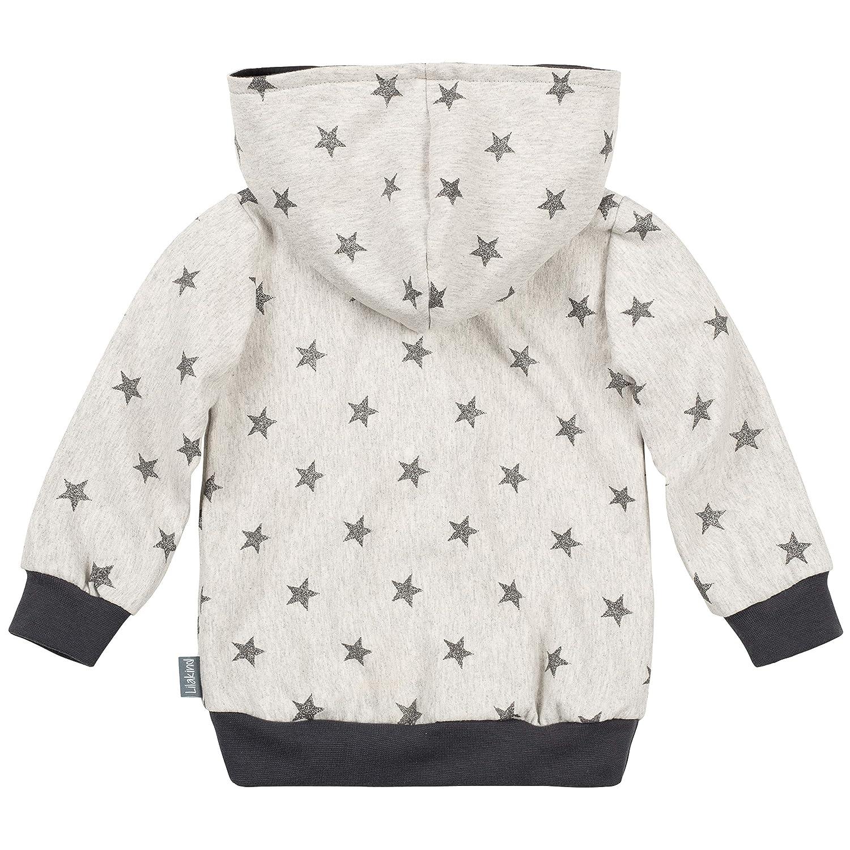 "Lilakind/"" Kinder Pullover Hoodie Sweater Kapuze Glitzer Sterne grau meliert Silber Gr 68//74-116//122 Made in Germany"