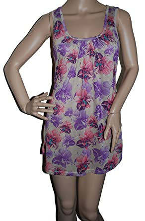 7d475b83a85 LADIES SHORT LACE BACK DRESS/TUNIC TOP - GREAT WITH LEGGINGS: Amazon.co.uk:  Clothing