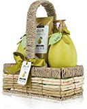 PURE Deluxe Spa Bath Gift Set, Fresh Pear. Exquisite Display, Wrapped & Ready to Deliver, the Ultimate Holiday Gift for Men & Women. The #1 at Home Spa Treatment!