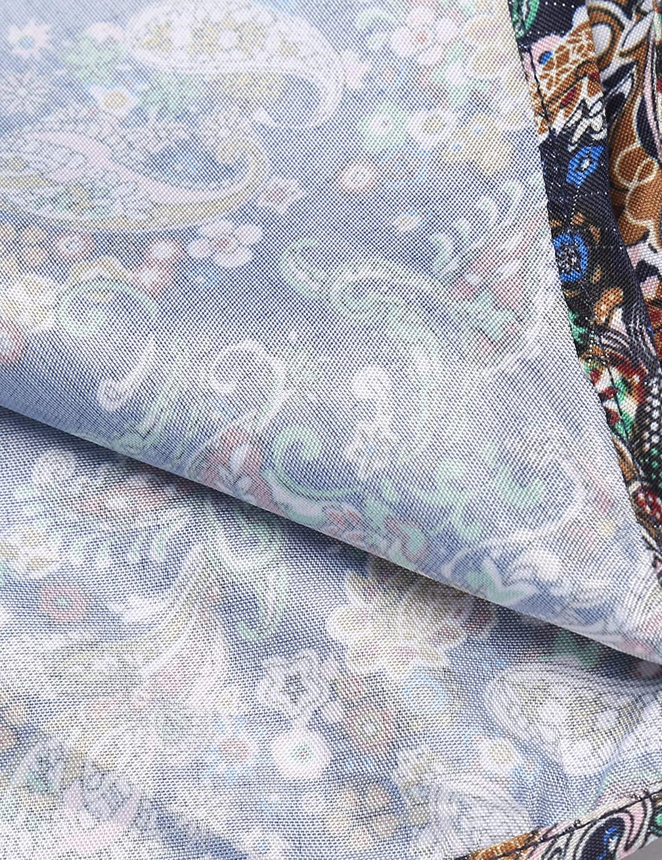 COOFANDY Mens Floral Dress Shirt Slim Fit Casual Paisley Printed Shirt Long Sleeve Button Down Shirts
