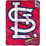 MLB St. Louis Cardinals 'Triple Play' Micro Raschel Throw Blanket, 46' x 60'