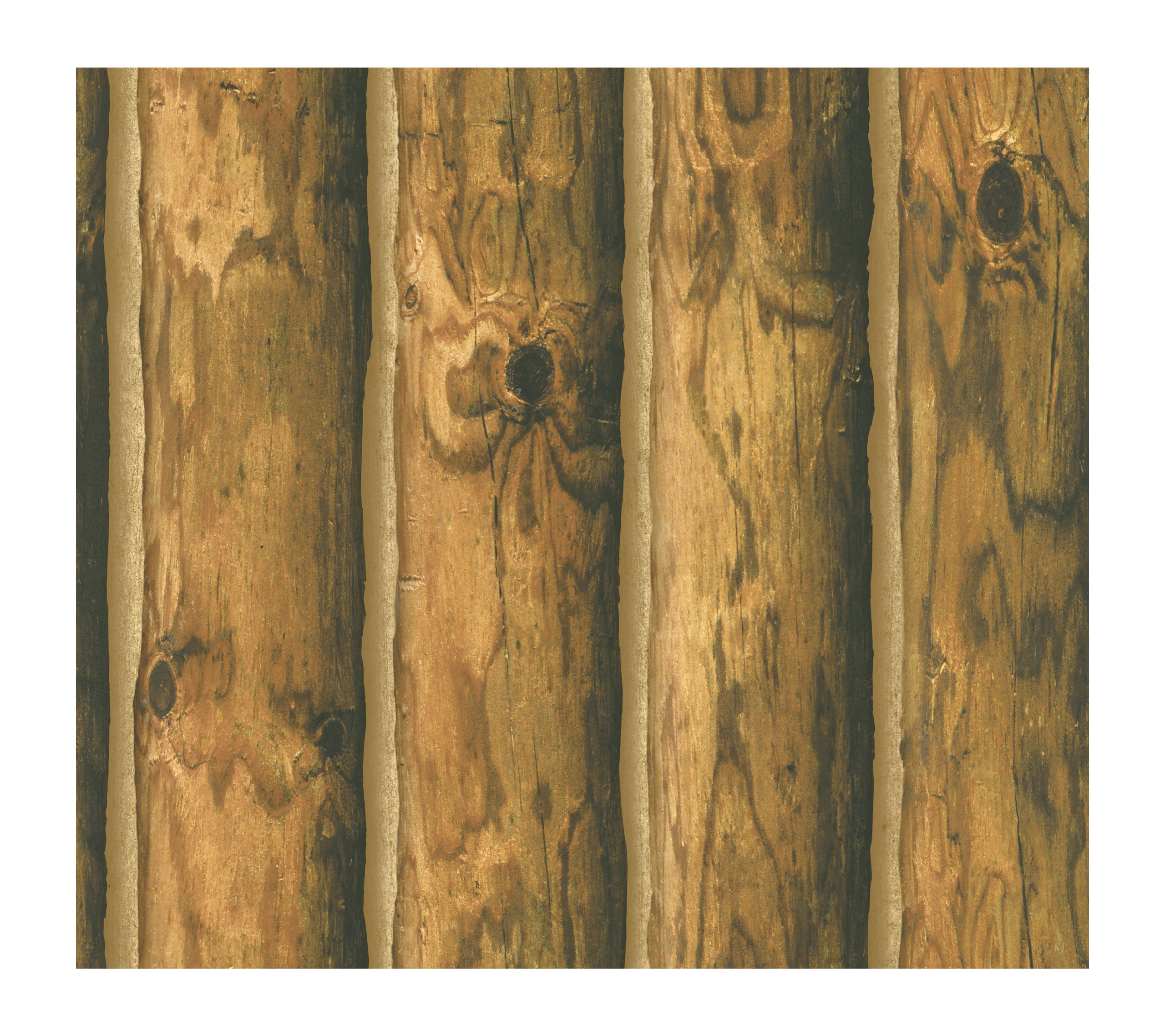 York Wallcoverings CH7980 Lake Forest Lodge Mountain Logs Wallpaper - Ultra Removable