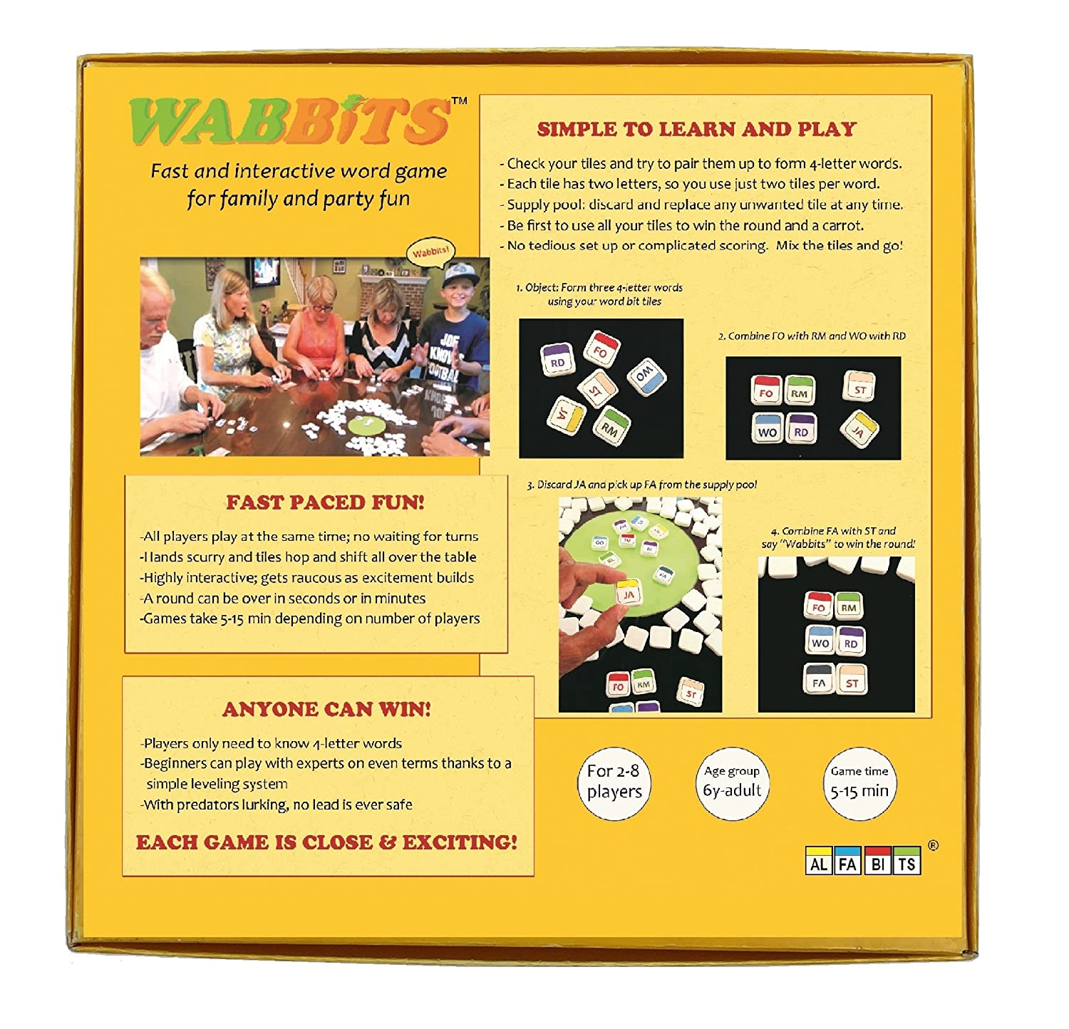Amazon wabbits word game 109 tile version toys games aljukfo Images