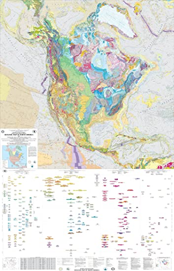 Amazon.com: Map Poster - Geologic map of North America - 24\