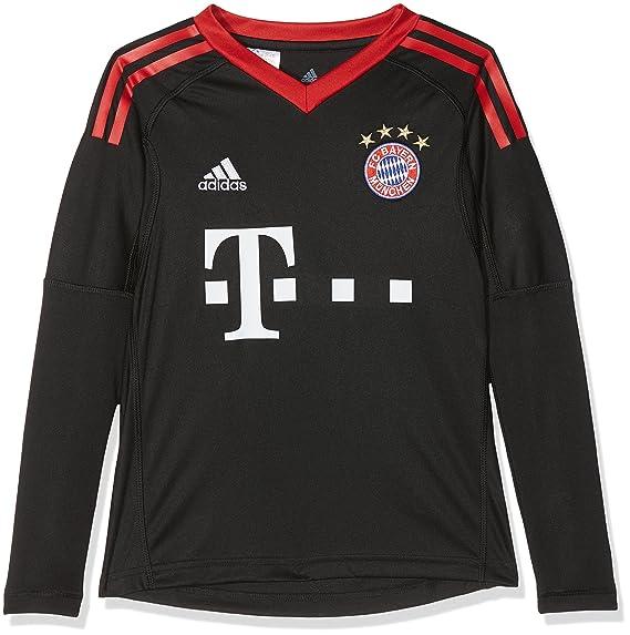 closer at best place online here adidas Kinder Fc Bayern Torwart Heim Langarm-Trikot