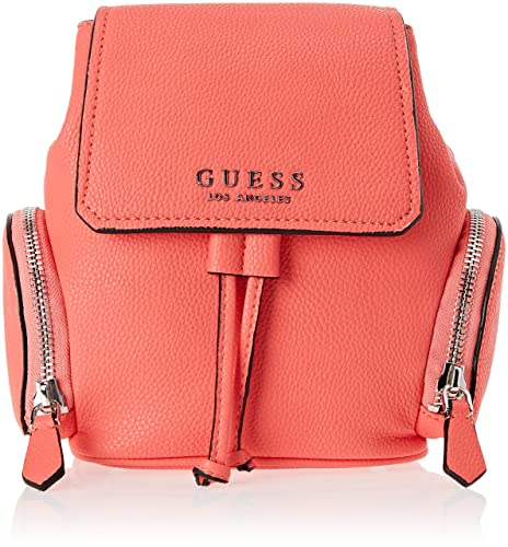 Guess - Sally, Mochilas Mujer, Rosa (Coral/Cor), 29x23x13 cm