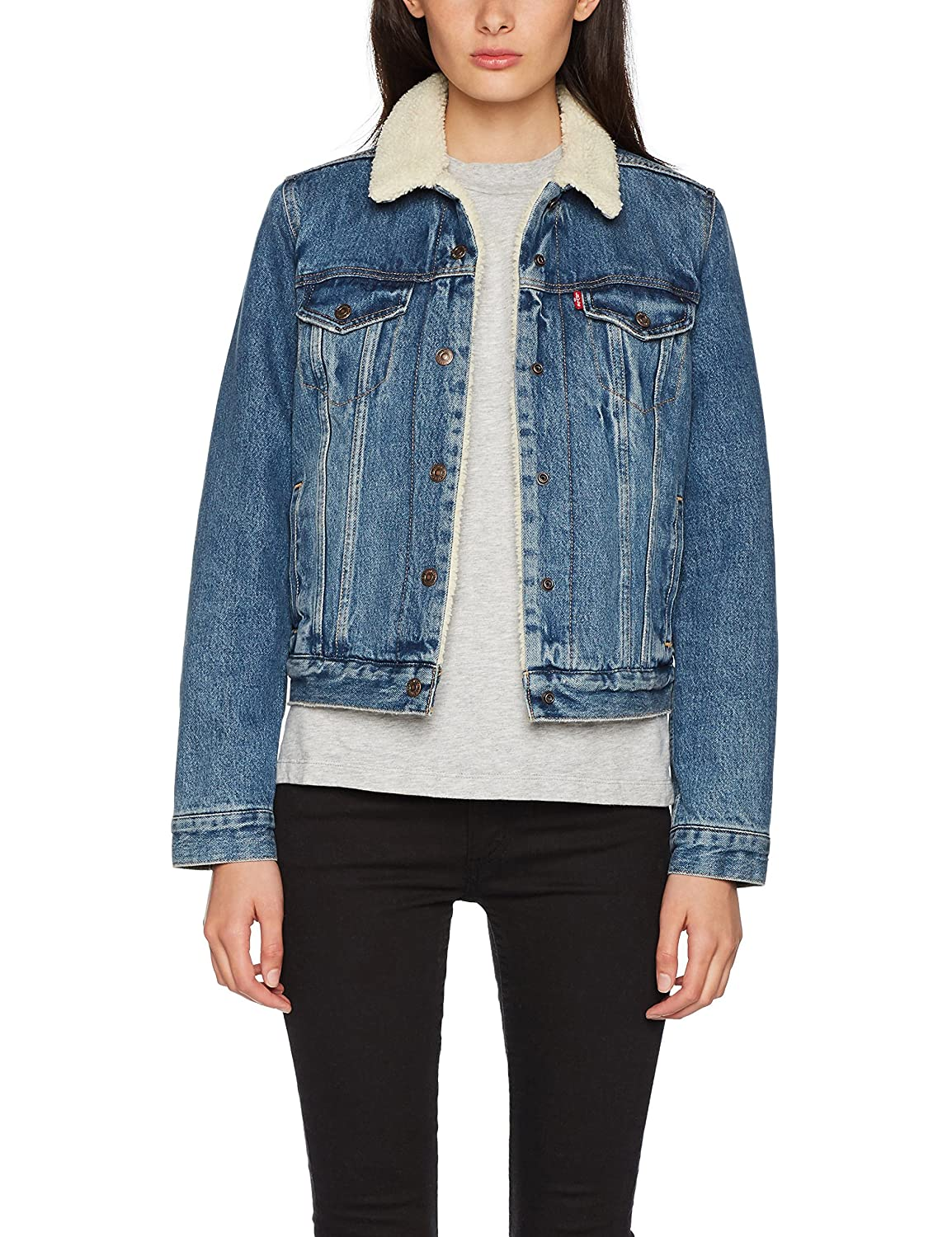 Levi's Women's Original Sherpa Trucker Denim Jacket Levis Levi' s 36136