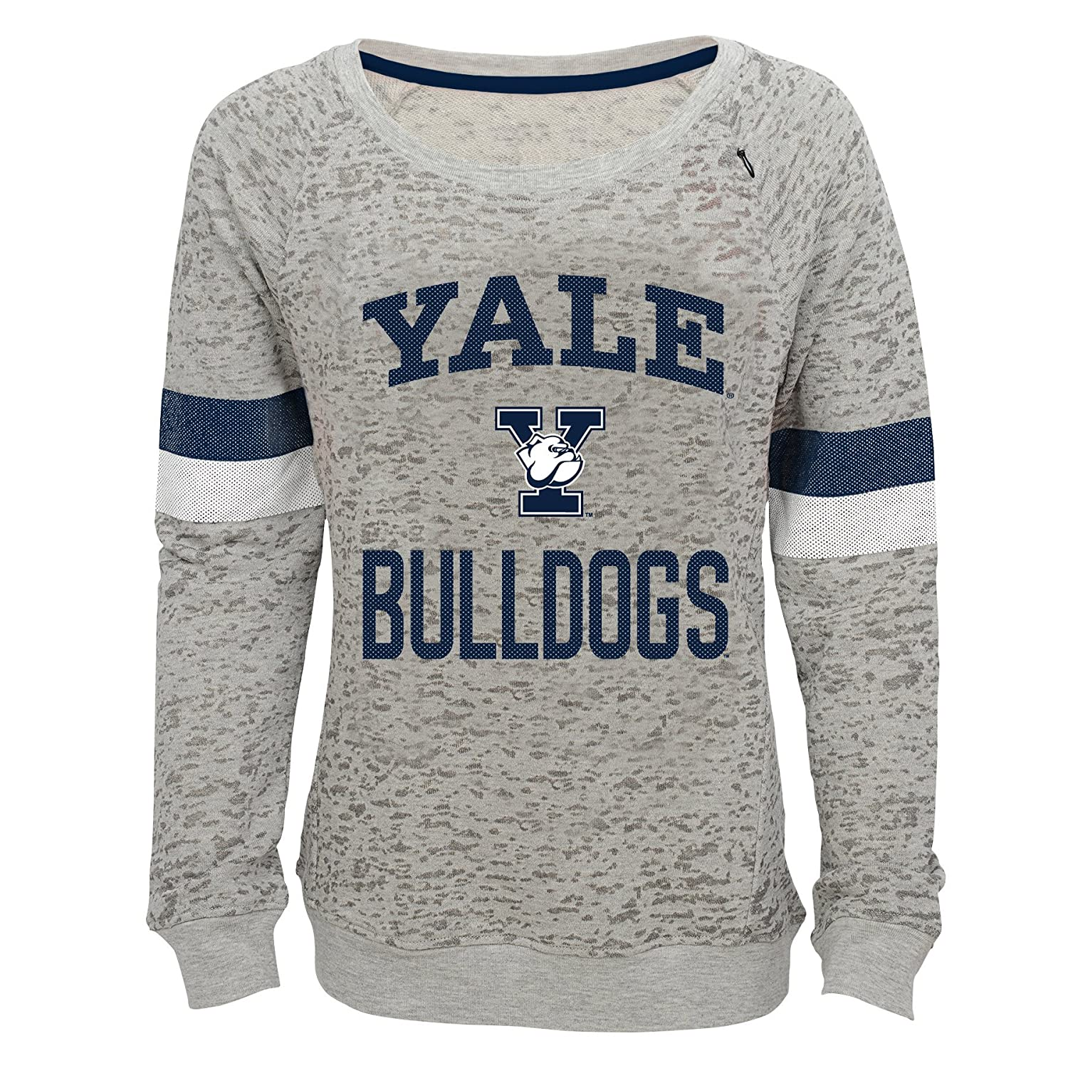 16 Youth X-Large NCAA by Outerstuff NCAA Yale Bulldogs Youth Girls My City Boat Neck Pullover Heather Grey