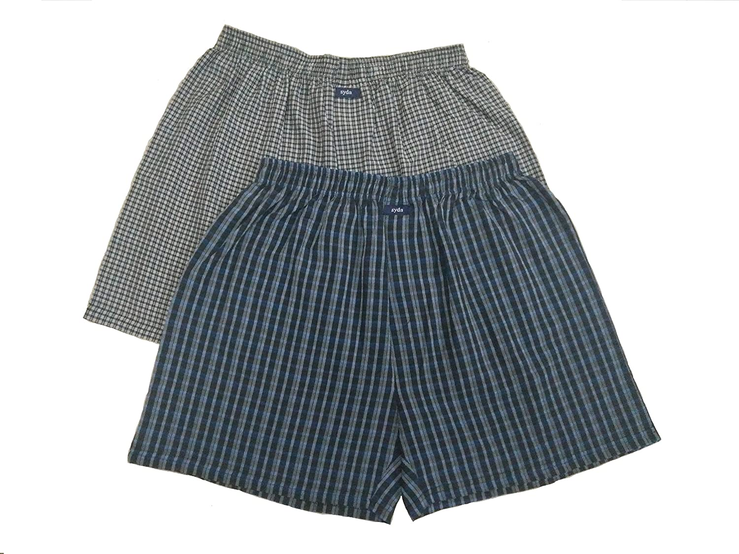 SYDA Men's Assorted Cotton Boxer (Pack of 2)