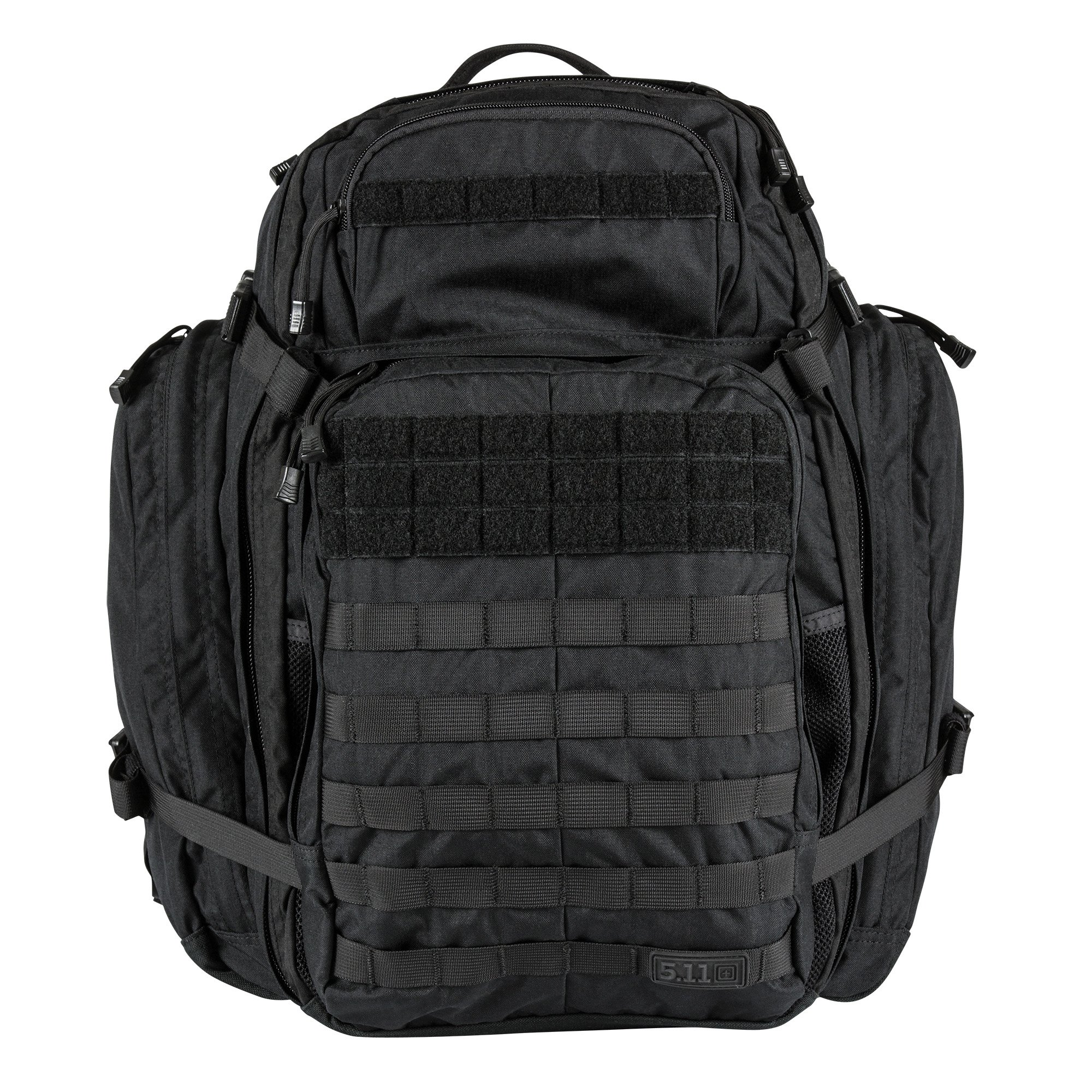 5.11 Rush USA 3-Day Tactical Backpack with Codura Nylon, MOLLE, Sunglass/Gadget Pocket, Hydration Pack Pocket - Style# 56361 - Black by 5.11