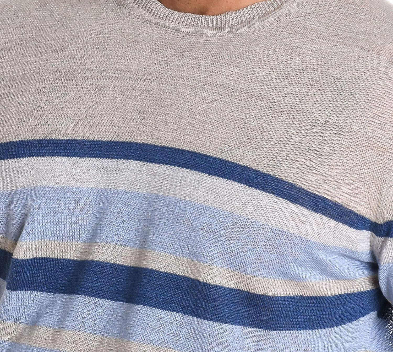 H953 Mens HS215970 Grey Linen Sweater