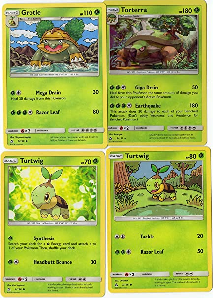 Amazoncom Pokemon Evolution Set Torterra Grotle Turtwig Sun
