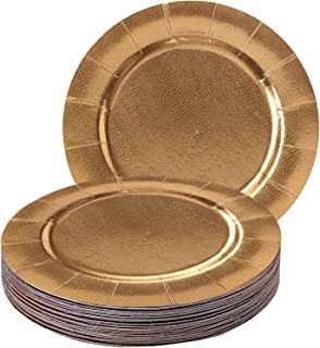Party Disposable 20 pc Round Charger Set | 20 Charger Dinner Plates | Heavyweight Paper Plates  sc 1 st  Amazon.com & Amazon.com: Sophistiplate Satin Red Petal Paper Charger Plates (Pack ...