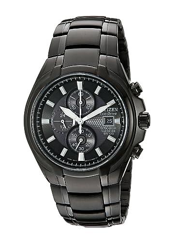 Citizen Men s Eco-Drive Titanium Chronograph Watch with Date, CA0265-59E