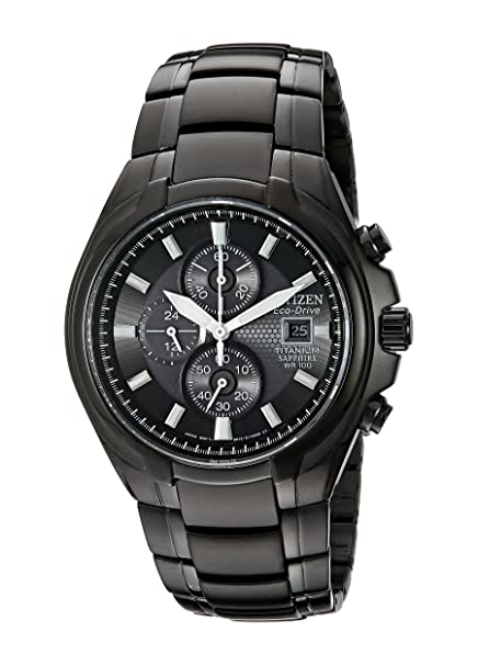 Citizen CA0265-59E - Reloj para hombre, correa de titanio color negro: Amazon.es: Relojes