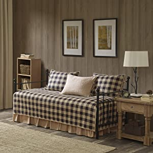 Woolrich Buffalo Check Day Bed Cover Se, Daybed, Tan