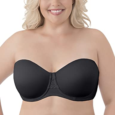Vanity Fair Women's Beauty Back Strapless Full Figure Underwire Bra 74380, Midnight Black, 44DD