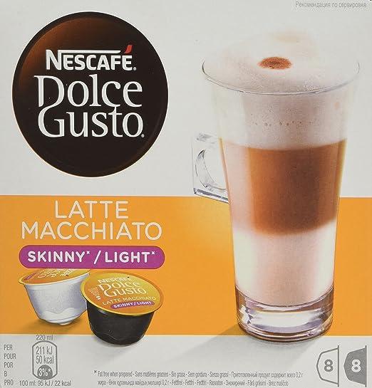 Nescafé Dolce Gusto - Latte Macchiato Light - Cápsulas de Café - 16 Cápsulas