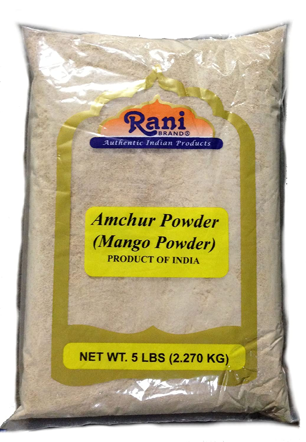 Rani Amchur (Mango) Ground Powder 80oz (5lbs) Bulk Poly ~ All Natural, Indian Origin | No Color | Gluten Free Ingredients | Vegan | NON-GMO | No Salt or fillers