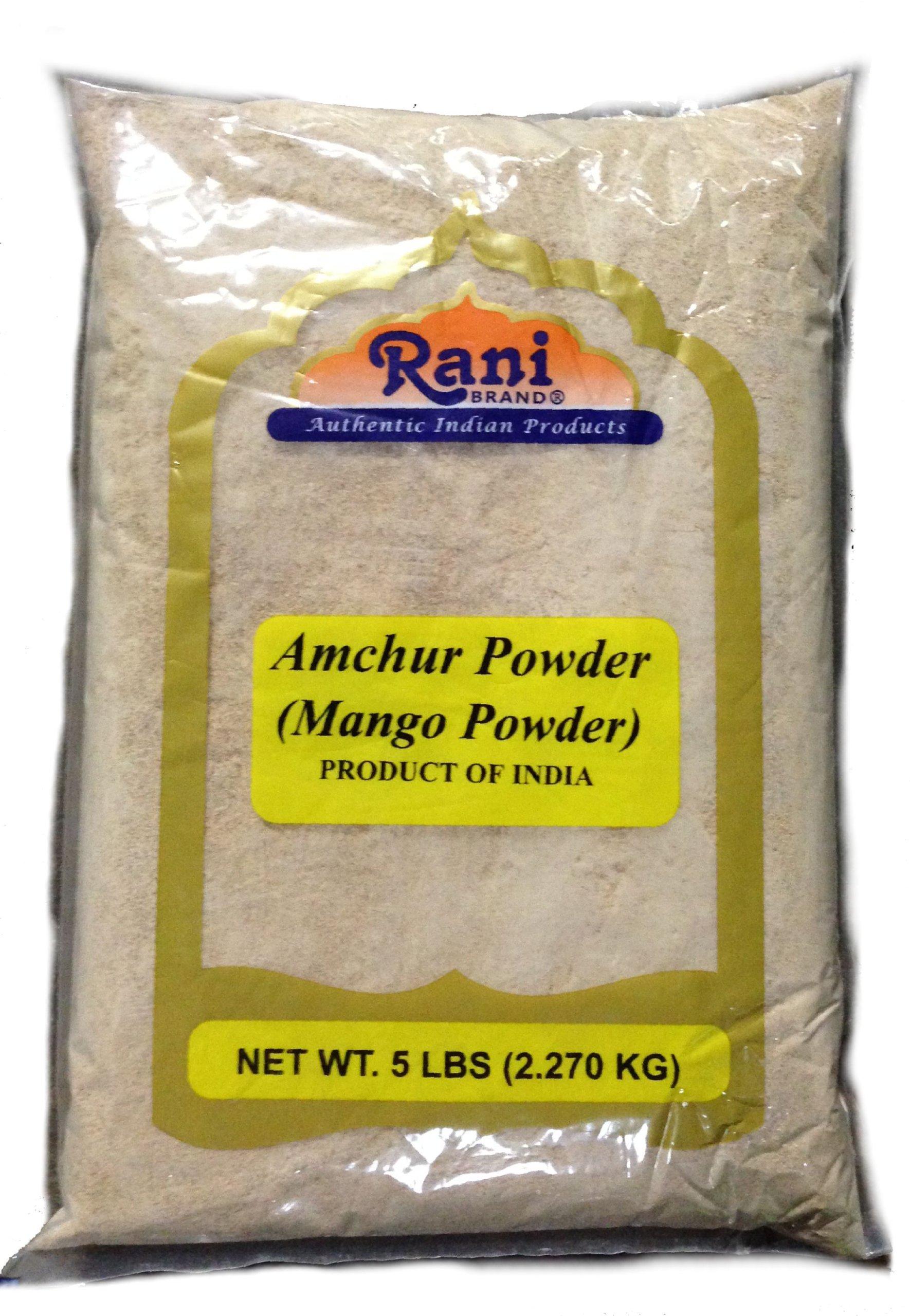 Rani Amchur (Mango) Ground Powder 80oz (5lbs) Bulk Poly ~ All Natural, Indian Origin | No Color | Gluten Free Ingredients | Vegan | NON-GMO | No Salt or fillers