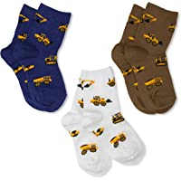 Jefferies Socks Little Boys' Construction Triple Treat Socks (Pack of 3)