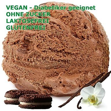 Oreo - chocolate sabor a vainilla vegano escamosa - azúcar - LACTOSA - GLUTEN - bajo en grasa, helado suave para la leche ...