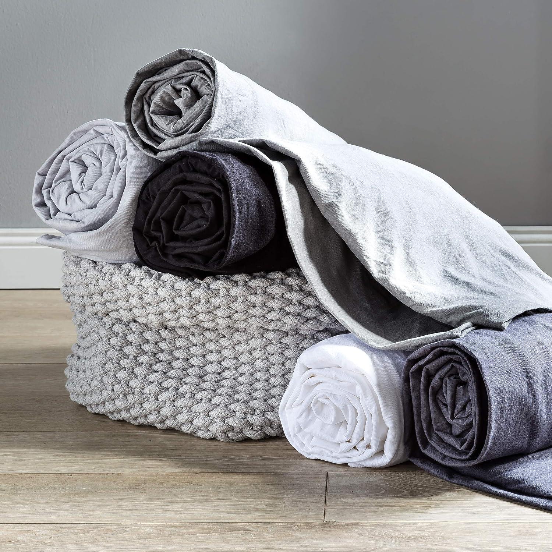 Lumaland Comfort Sábana Bajera Ajustable 160g/m² con Cremallera YKK 60 x 120 cm - 70 x 140 cm Gris Hielo: Amazon.es: Hogar