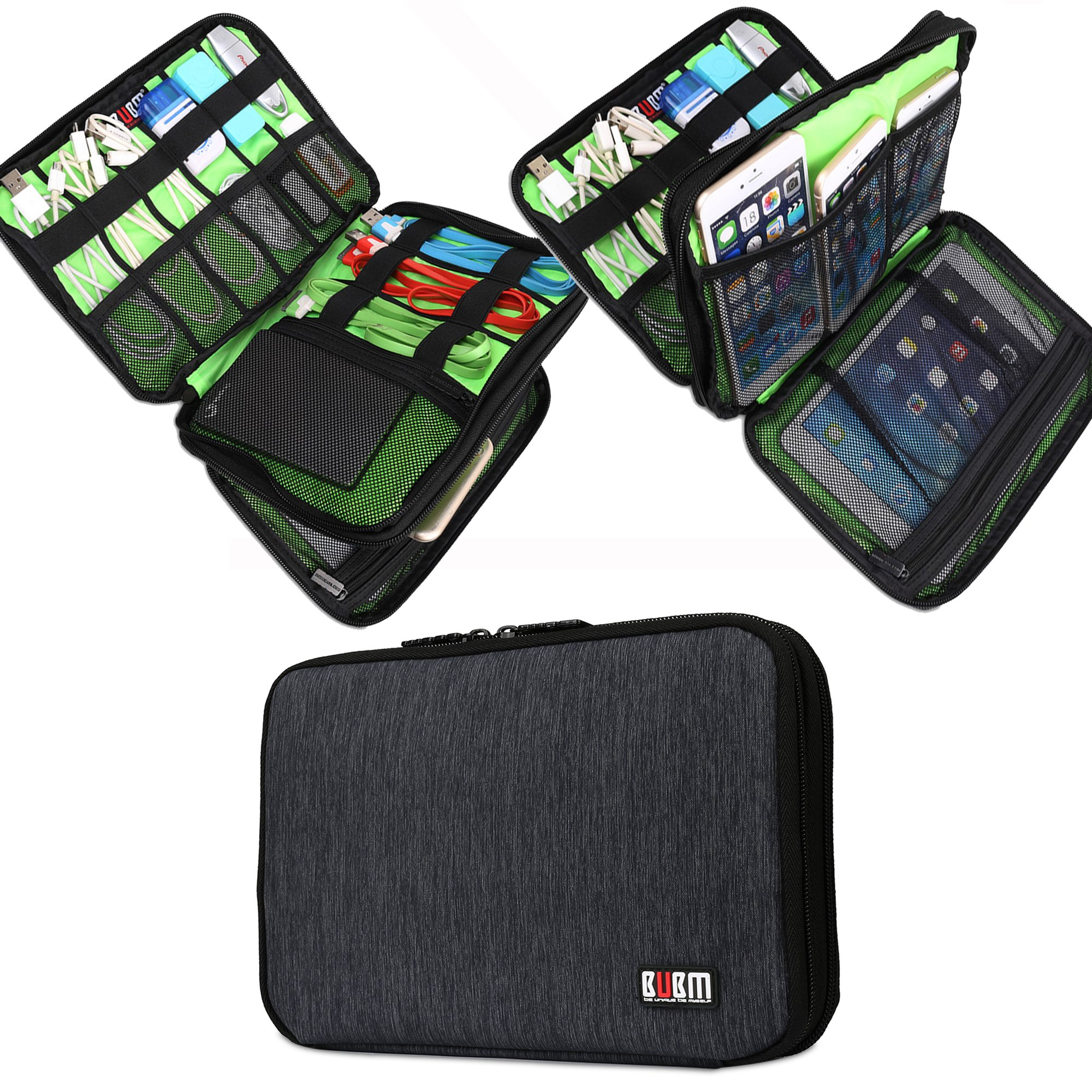 BUBM Cable Cord Organizer Electronics Accessories Case USB Cable, Phone Travel Gadget Bag