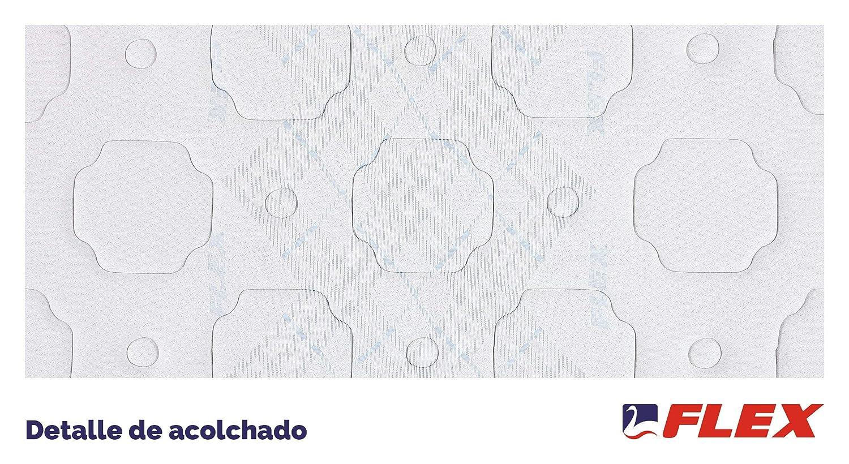 FLEX Colchón muelles continuos Multielastic Visco, 150 x 190 cm: Amazon.es: Hogar