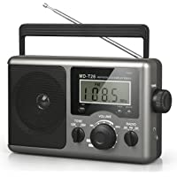 Greadio Portable Shortwave Radio,AM FM Transistor Radio with Best Reception,LCD Display,Time Setting,Battery Operated by…