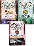 Winston Graham Poldark Series Trilogy Books 4, 5, 6, Collection 3 Books Set, (The Four Swans: A Novel of Cornwall 1795-1797, The Black Moon: A Novel of Cornwall 1794-1795 and Warleggan: A Novel of 1792-1793)
