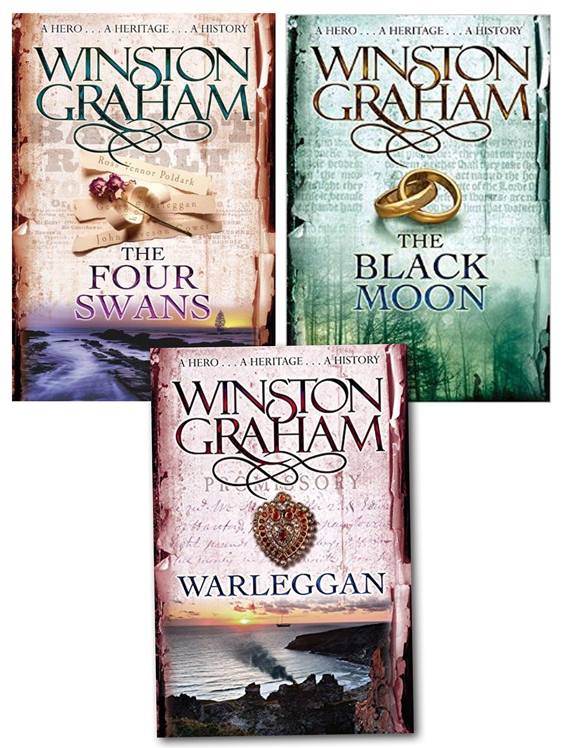 Poldark books in order - Winston Graham Poldark Series Trilogy Books 4 5 6 Collection 3 Books Set The Four Swans A Novel Of Cornwall 1795 1797 The Black Moon A Novel Of