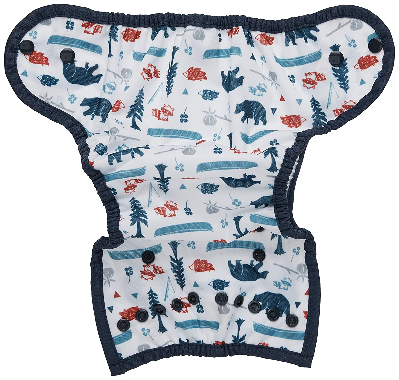 Size 2 Aqua Snap Thirsties Duo Wrap Cloth Diaper Cover