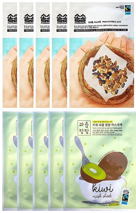 Comercio justo somsom Waterful [humedad máscara de], 10 hojas, 3 semillas complejo
