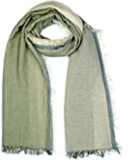 GIULIA BIONDI 100% made in Italy 100% Organic Cotton Natural Colors Square Plaid Scarf Shawl Wrap Soft Lightweight Women Men