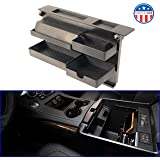 """MX Auto Accessories Salient Customizable Center Console Organizer - Compatible with Select Chevrolet and GMC Trucks and SUVs - 13.2"""" x 2"""" x 9.2"""" - Black"""